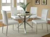 Cheap Glass Dining Room Furniture Circular Kitchen Table (NK-DTB037)