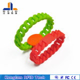 Customized Solid Color Smart RFID Silicon Wristband for Cooling Libraries