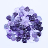 16mm Amethyst Crystal Stone Love Heart Charms Pendants Fashion Necklace Jewelry