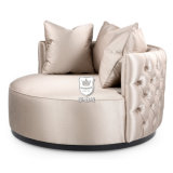 Romantic Round Soft Faux Love Seat