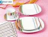 20PCS Crockery Color Clay Dinner Ware