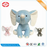 Embroidered Jumbo Baby Blue Elephant Soft Plush Toy