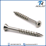 304/316/305 Stainless Flat Head Square Drive Timber Wood Decking Screw