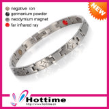 Titanium Silver Color Lady Bio Magnetic Energy Bracelet (CP-JS-BL-347)