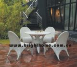 Round Marble Dining Table Set (Seagull Series) (BP-361)