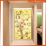 Luxury 3D Wall Decor Flower Design Door Decorations Oil Painting
