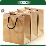 Handle Recycled 200g Kraft Paper Quality Shopping Bag
