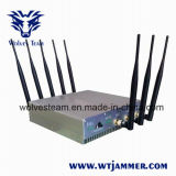 8 Antennas 16W High Power 3G 4G Cell Phone Jammer& WiFi Jammer