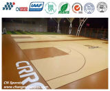 Wooden Texture Look PU/Polyurethane Coating for Highe Performance Basketball Court