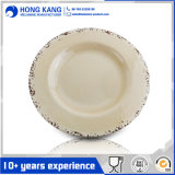 Wholesale Round Dinner Rustic Melamine Lunch Plate