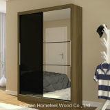Wooden Bedroom Furniture Sliding 2 Door Wardrobe with Mirror (WB31)