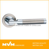 Stainless Steel Door Handle on Rose (S1035)
