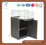 Pedestal Display Case with MDF Base Sliding Glass Door