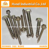 Fasteners Wood Screw Stainless Steel 410/304 DIN93/94/96 DIN571 Hex Head Wood Screw
