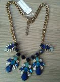 Green & Blue Stone Flower Necklace Fashion Jewelry