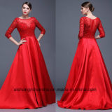 Women Satin Beading Sexy Evening Party Prom Dress
