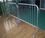 Removale Galvanized Steel Barricade/Road Steel Barrier with Bridge Feet