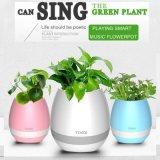 Bluetooth Flowerpot Music Speaker, Bluetooth Wireless Speaker Knocker with LED