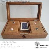 Hongdao Custom Luxury Carved Wooden Gift Packaging Box for Poker Tarot Wholesale Price _E