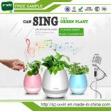 High-Tech Plastic Smart Music Flower Pot Bluetooth with Night Light