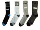 Men Plain Fashion Dress Socks with Cotton (mf-1)