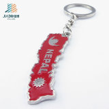 Cheap Promotional Gift Custom Red Enamel Color Keyholder in Metal Crafts