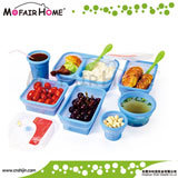 Microwave Safe Folding Silicone Lunch Box