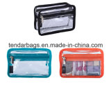 Clear PVC Cosmetic Pouch Purse with Front Pocket