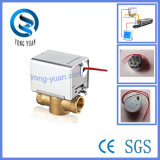 Electric Actuator Valve 2-Way Brass Motorized Valve for Fan Coil (BS-828-20)