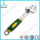 Metric Chrome Vanadium Steel Satin Chrome Plated Adjustable Spanner