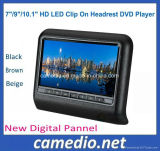 7/9/10.1inch HD LED Clip on Active Car Headrest Monitor with DVD Player Function