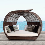 Dome Round Sunshine Lounge Beach Chaise Lounge Circular Garden Furniture Rattan Sun Daybed T580