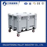 Heavy Duty Stackable Storage Plastic Pallet Boxes with Wheel