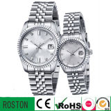 Silver High Quality Men′s Stainless Steel Watch for Business Men