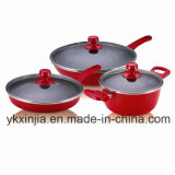 Kitchenware Chinese Red Aluminum Cookware Set