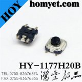 3.3*3.3*2mm Tact Switch with 4pin Registration Mast SMD (hy-1177h20b)