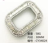 Diamond Trim Buckle Rhinestone Decorate Buckle for Shoe Belt Handbag