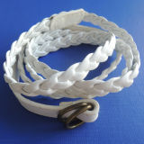 Ladies Waist PU Belt with White Color