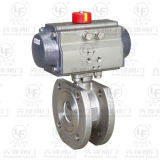 Double-Acting Pneumatic Flanged Ball Valve (PSQ671F)