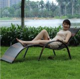 Beach Swimming Pool Outdoor Lounger Chair Wicker Rattan Sun Bed (T513)