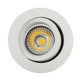 Lathe Aluminum GU10 MR16 Round Recessed Tilt Downlight (LT2202A)