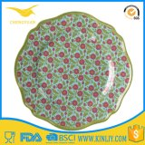 India Arabic Melamine Plastic Dinner Ware Round Tableware Plate Set