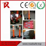 High Visible T-Top 1150mm Reflective Removable Plastic Bollard Spring Delineator Post