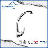 Chromed Ss Long Spout Kitchen Faucet with Single Handle (AF1965-5C)