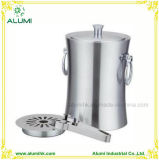 Durable Stainless Steel Ice Bucket with Ice Tong for Hotel