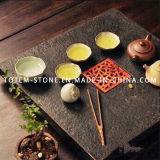 Black Good Quality Granite Stone Tea Tray for Sale
