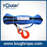 30m Dyneema Winch Rope with Thimble Black Sleeve Hook