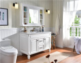 Single Sink Solid Oak Marble Counter Tops Wood Modern Bathroom Furniture