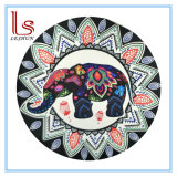 Eco Friendly Elephant and Peacock Round Beach Towels