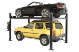Movable Four Post Car Parking Lifts for Two Car